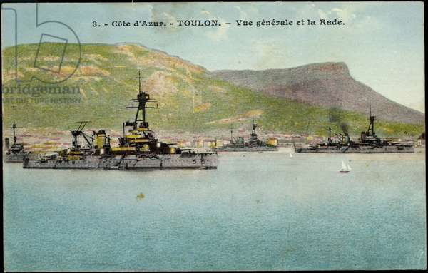 French warships off Toulon, Côte d'Azur