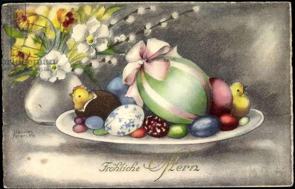 Artist Happy Easter, Easter Egg Bowl, Chick