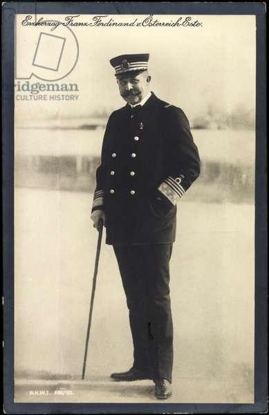 Ak Archduke Franz Ferdinand of Austria Este, uniform, walking stick, BKWI 888 102 (b/w photo)