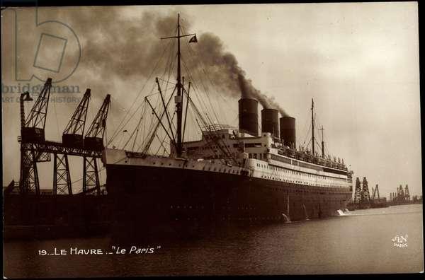 French Line, CGT, Paquebot Le Paris, Le Havre