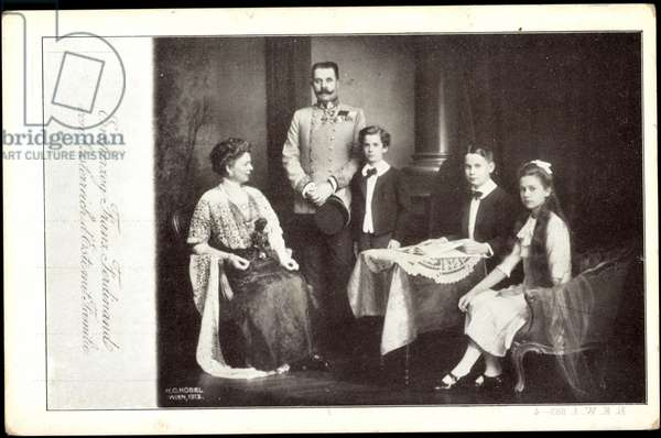Archduke Franz Ferdinand with family, children