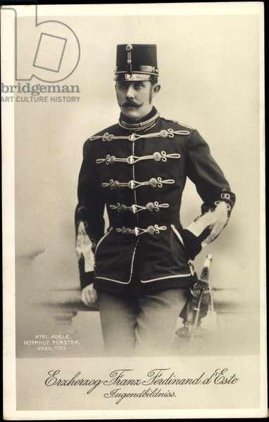 Ak Archduke Franz Ferdinand of Austria Este, Jugendbildnis, BKWI 888 229 (b/w photo)