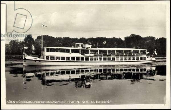 Rhine steam shipping, M.S. Gutenberg, inland waterway