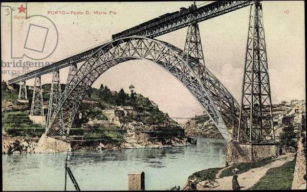 Porto Portugal, Ponte Maria Pia, railway bridge