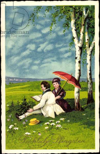 Happy Pentecost, lovers on the meadow, book