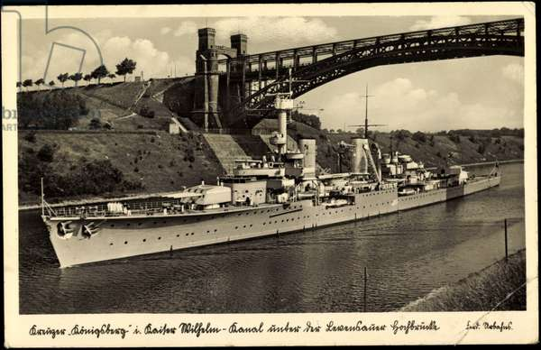 German warship, cruiser Königsberg, bridge