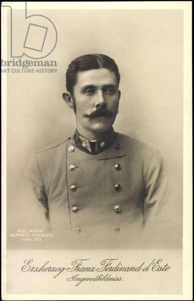 Ak Archduke Franz Ferdinand of Austria Este, Jugendbildnis, BKWI 888 224 (b/w photo)