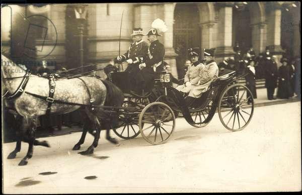 Photo Ernst August v Braunschweig, carriage, horses