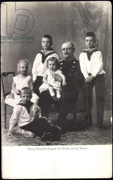 King Frederick August III of Saxony, Children