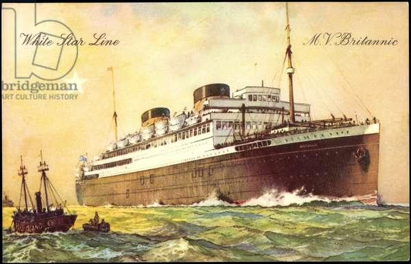 White Star Line,M.V Britannic,British Vessel,Steamer
