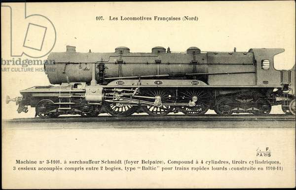 French steam locomotive, Nord, Machine No 3 1101