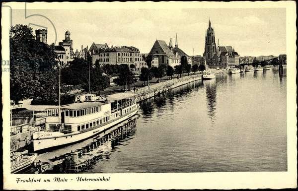 Frankfurt Main, Untermainkai, Salonschiff Gutenberg
