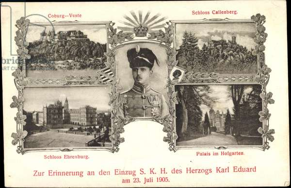 Coburg, Duke Karl Eduard, Remembrance 1905, Castle