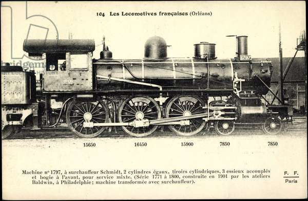 French steam locomotive, Orléans, Machine No 1797