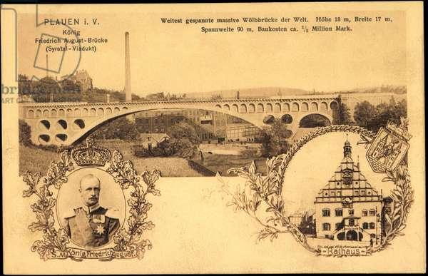 Plauen Vogtland, Friedrich August Bridge, Town Hall