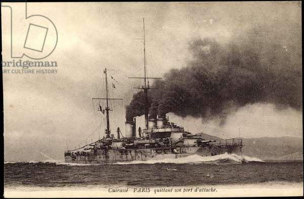 French warship Paris, Cuirassé