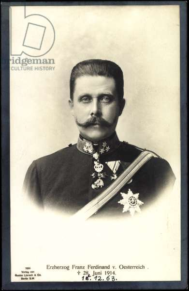 Ak Archduke Franz Ferdinand of Austria, d. 1914, Liersch 7055 (b/w photo)