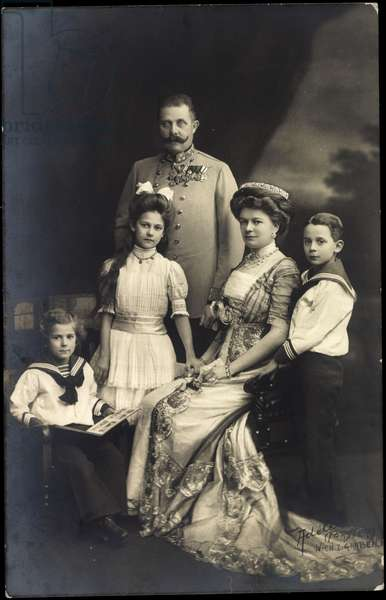 Archduke Franz Ferdinand with family, Austria