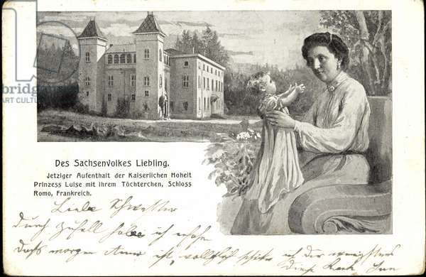 Princess Luise with her daughter, Romo Castle