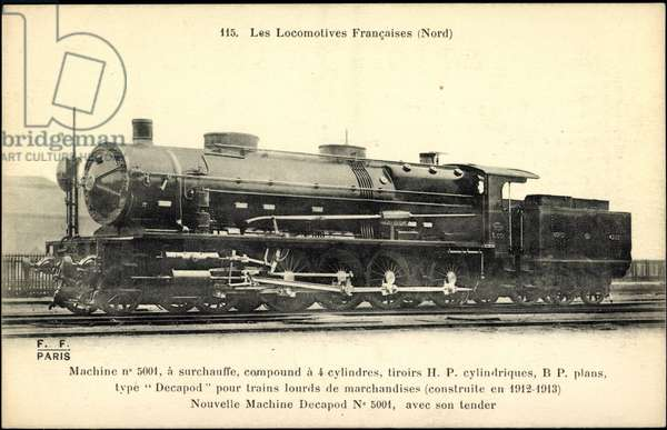 French steam locomotive, Nord, Machine no 5001