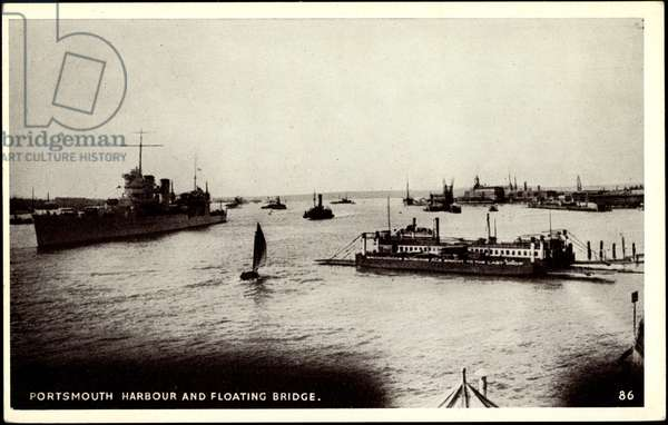 Portsmouth, Harbour and Floating Bridge, Battle Ship