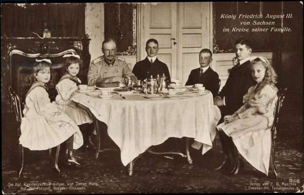 King Frederick August III of Saxony with family