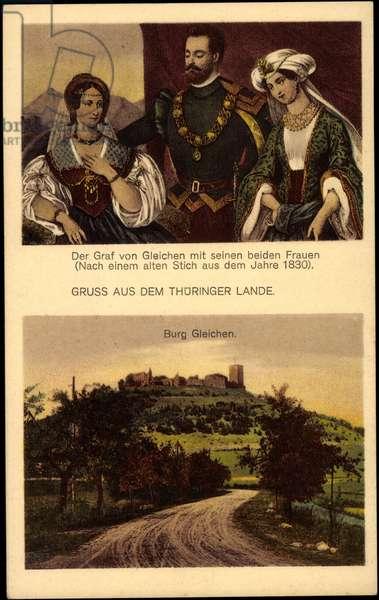 Wandersleben Drei Gäben Thuringia, the Count, Burg