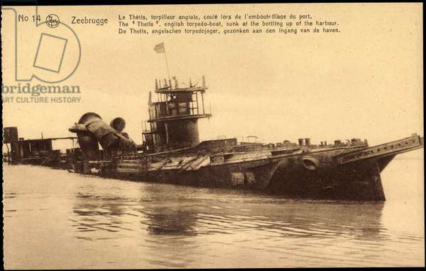 Zeebrugge, British Warship Thetis, Wreck