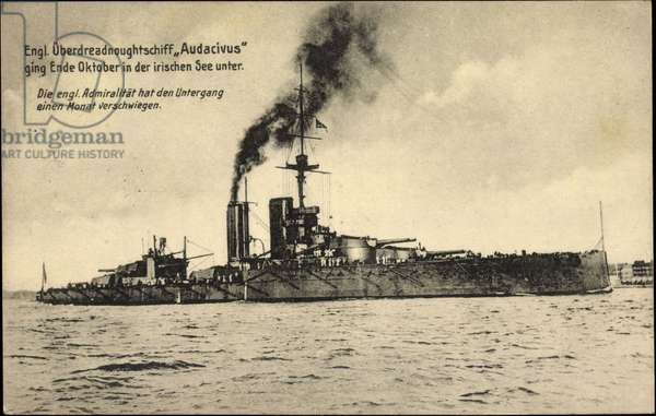 British Overdreadnought ship Audacivus