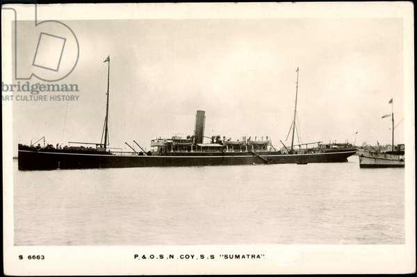 P & O.S.N. COY. S.S. Sumatra, Steamboat