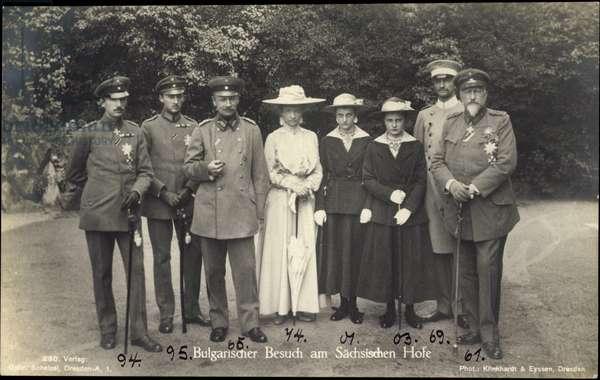 Ak Bulgarian Visit, King Frederick August III, Ferdinand I of Bulgaria (b/w photo)