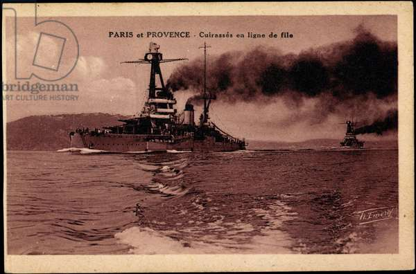French warships Paris and Provence