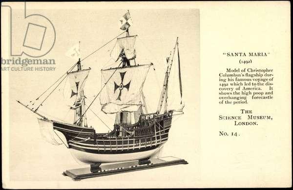 Sailing ship Santa Maria, Christopher Columbus, model