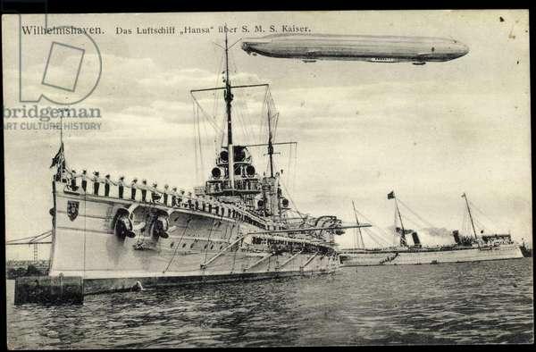 Wilhelmshaven, S.M.S. Kaiser, Zeppelin Hansa