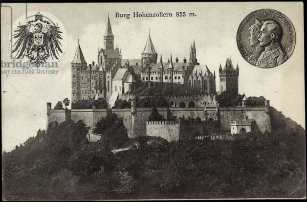 Bisingen, view of the castle Hohenzollern, coin