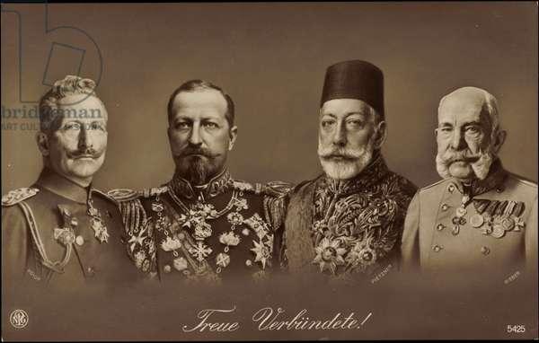 Wilhelm II, Ferdinand I, Mehmet Rechad, Franz Joseph