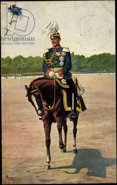 Artist Starcke, King Friedrich August III, Horse