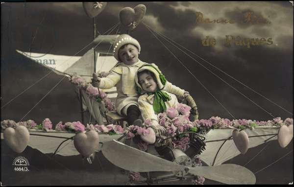 Easter greetings card (colour litho)