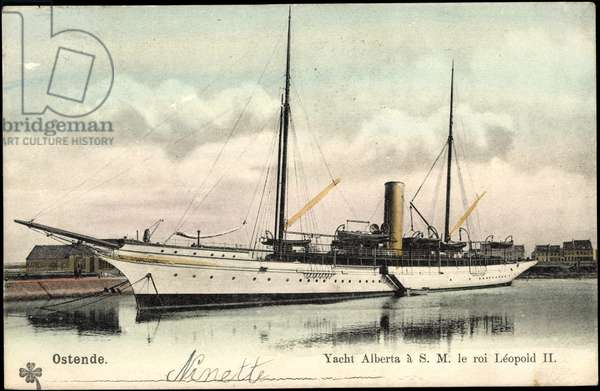 Ostend, Yacht Alberta to H.M. King Leopold II