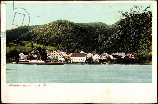 Niederranna Danube Upper Austria, steamer a. river