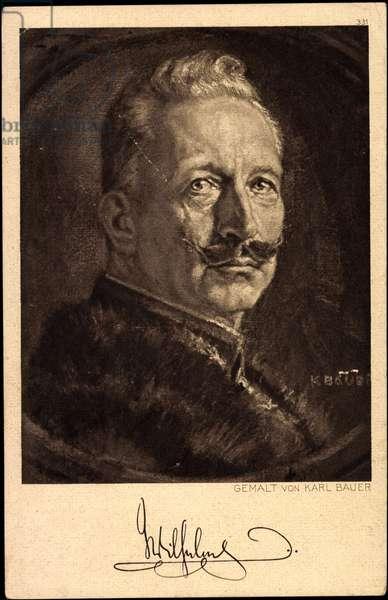 Artist Bauer, K., Kaiser Wilhelm II of Prussia