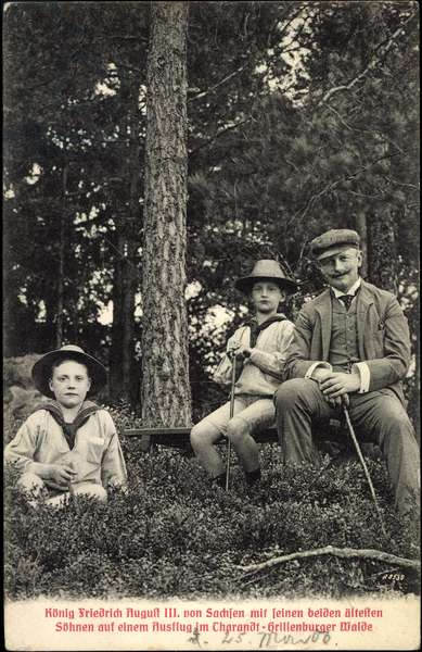King Frederick August III of Saxony with sons