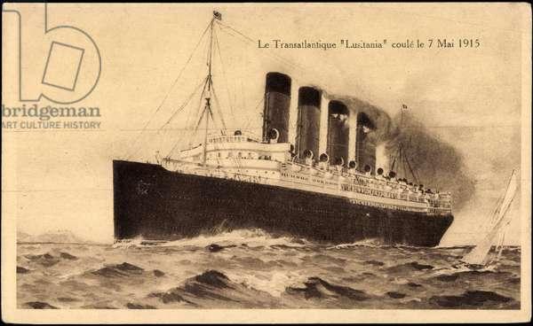 Cunard Line, Transatlantique Lusitania, 1915