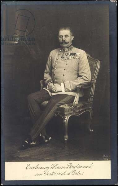 Passepartout Ak Archduke Franz Ferdinand of Austria d'Este, BKWI (b/w photo)