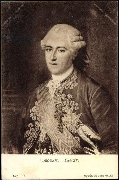 Portrait of King Louis XV, Medallie