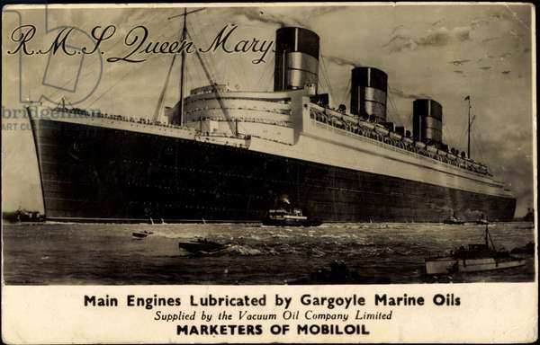 Cunard White Star Line R.M.S. Queen Mary