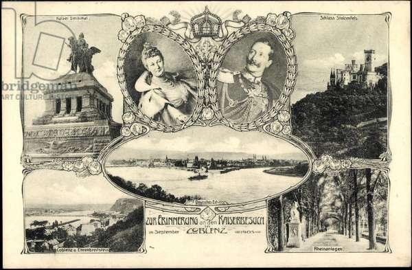 Art Nouveau Koblenz, Imperial Couple, Stolzenfels Castle