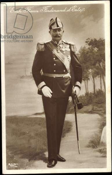 Ak Archduke Franz Ferdinand of Austria Este, uniform, BKWI 888 66 (b/w photo)