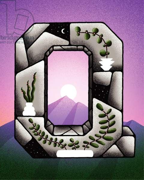 Nature during quarantine, 2020 (digital illustration)
