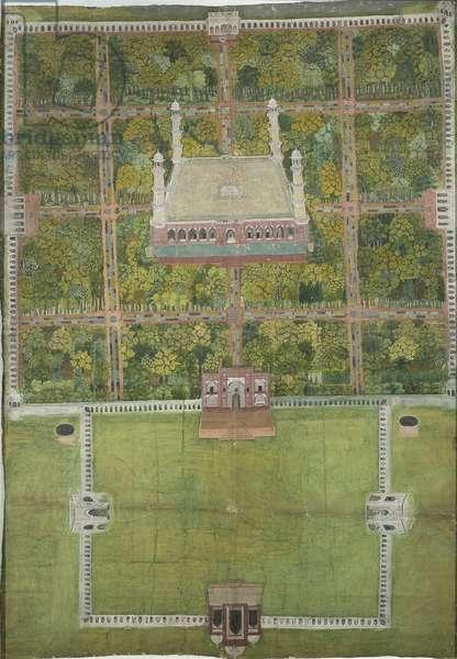 Jahangir's mausoleum at Lahore, 1770 (gouache on paper)